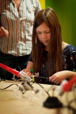 Rain City Rock Camp for Girls .. solder time!